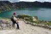 25 onderweg genieten en even pauze, afdaling met steile hellingen
