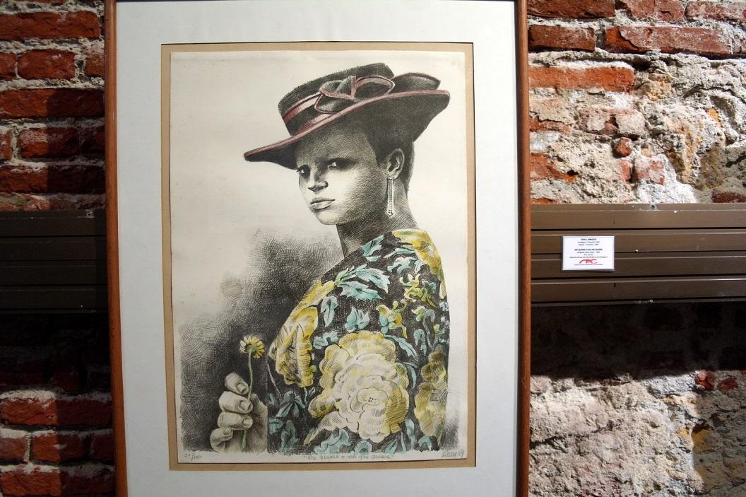 41 me Quiere o no me Quiere (1989) - Ik wil of ik wil niet (1989) - zeefdruk op papier van Enrique Grau (Cartagena 1920 - Bogota 2004)