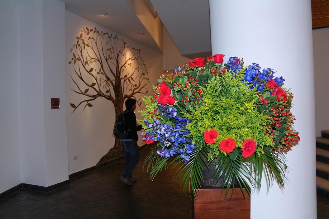 34 entree en hal van theater Casa de La Musica, Quito