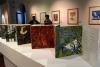 07 Expositie, met vooral drukwerk en sjablonen, waarin de waarde van het regenwoud en de natuur een belangrijke rol speelt