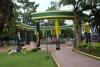 19 kleurrijk en met zorg aangelegde Main Plaza in het centrum van Tena