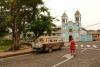 28 we gaan weer op weg. Zicht op de Catedral van Mision Josefina