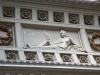 11 Een van de vier decoraties aan plafond Main Hall, Symbool Paard van Liberty, Deel van het wapen van Uruguay