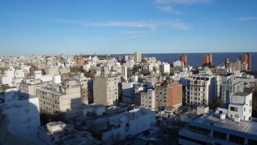 16 uitzicht over de stad Montevideo en Rio de Plata