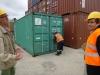 1 de container nog gesloten