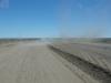 Route 40 op weg naar Bajo Caracoles is nog niet overal geasfalteerd