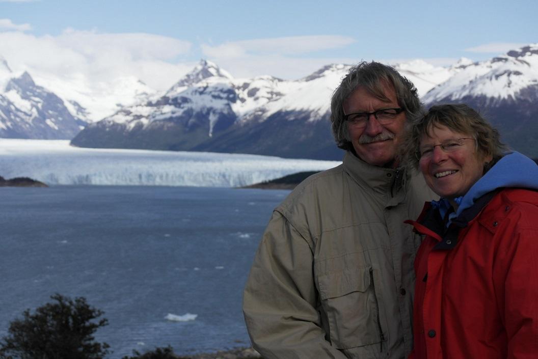 samen even poseren bij dit natuurwonder, de Glaciar Perito Moreno