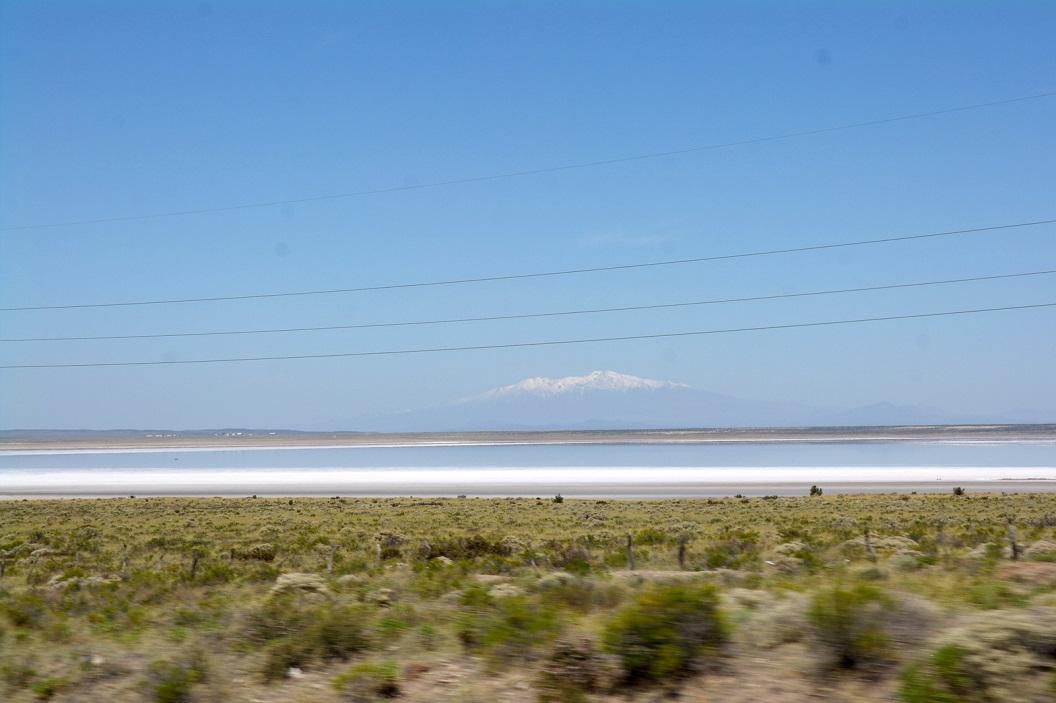 zoutmeer in de Pampa del Diamante, even buiten San Rafael