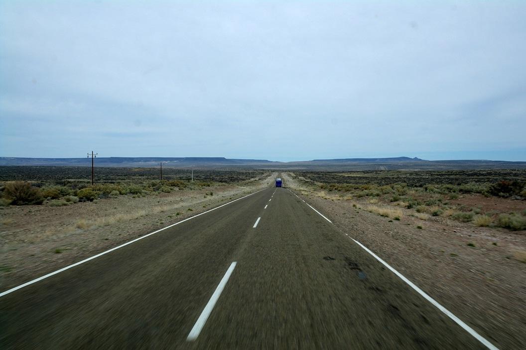 route 40 met ook lange rechte wegen, eindeloos
