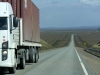 Eenmaal uit de bergen is de weg weer schoon, vanuit Ushuaya route 3 op weg naar Chili