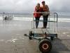 09 aan het strand zijn bootjes te huur voor uitstapjes, klaar voor de vaart naar de Pinguin colonies