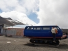 41 omgebouwde VW bus op de hellingen van de Volcan Osorno