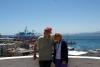 14 na een wandeling naar boven, prachtig uitzicht op de haven. De stad is al oud. In 1536 bestempelde Pedro de Valdiva de baai tot uitvoerhaven voor Santiago