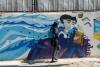 23 muur van een school, creatief van begin tot eind