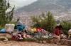 20 verkoop van souvenirs op de top van Sacsayhuaman