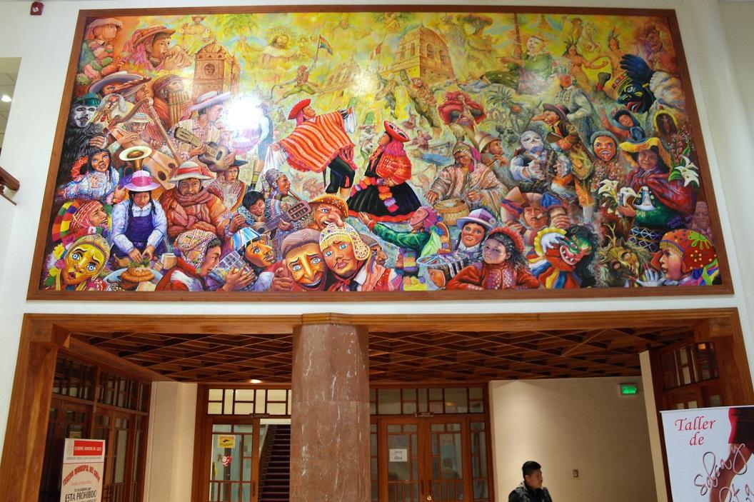 22 schildering in de hal - boven de deuren - van Teatro Municipal