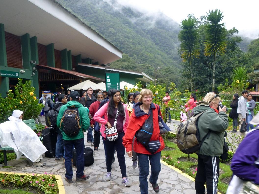 06 Hotel en Entrance van Machu Picchu, de belangrijkste en bekendste en toeristische attractie van Peru