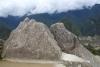 30 op een van de terrassen The Sacred Rock - De Geheime Rots - in de vorm van de bergen ervoor