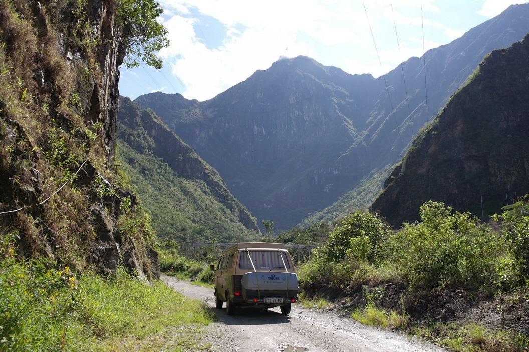 36 panoramische route en begin van het Tropisch regenwoud