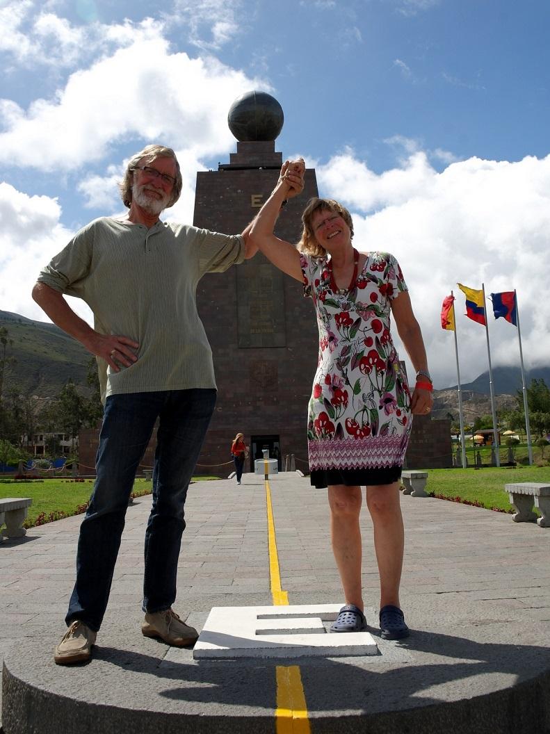 59 op de evenaar in Quito - Ecuador