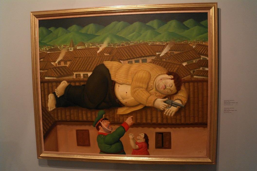 33 Pablo Escobar Muerto (2006)- de dood van Pablo Escobar (2006) Fernando Botero ( Medellin 1932)