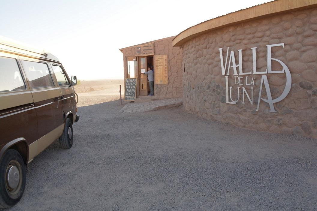12 ingang van Valle de la Luna, Moon Valley, zo'n 27 km voorbij San Pedro