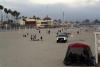 03 strand van Santa Cruz in de avond - strand en pier zijn groot actief recreatie centrum SAM_7572