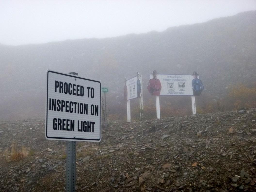 10 bijna bij de grenspost Boundery - Alaska P1020920