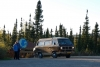 06 de Arctic Circle 66o 33´ ! 9 september 2016 savonds rond zeven uur bij bijna ondergaande zon (temp overdag ca 12oC en snacht -2o C) SAM_1036
