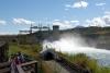 25 bezoek aan de Fish Ladder bij de Whitehorse Rapids Energie Dam and Fishway - de zalm vindt hierdoor haar weg - zie links van de Dam SAM_0777