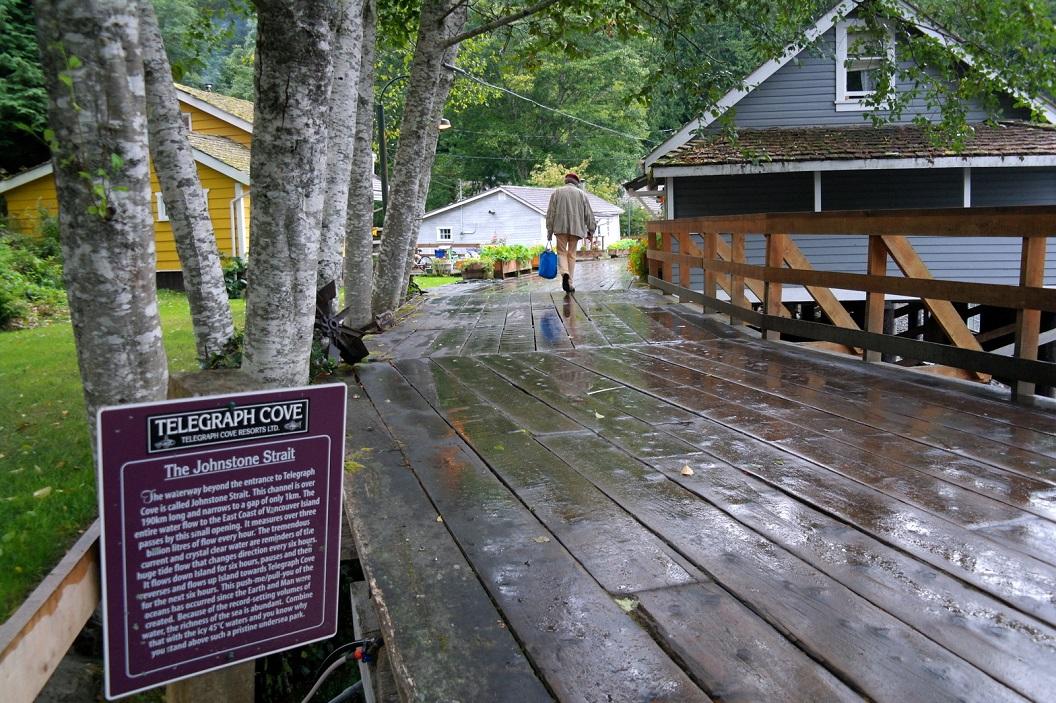 09 Telegraph Cove, gelegen op het noordelijk deel van Vancouver Island, een klein schilderachtig dorpje met opmerkelijkhoge, houten paalwoningen, uitzicht op Straat van Johnstone SAM_0017