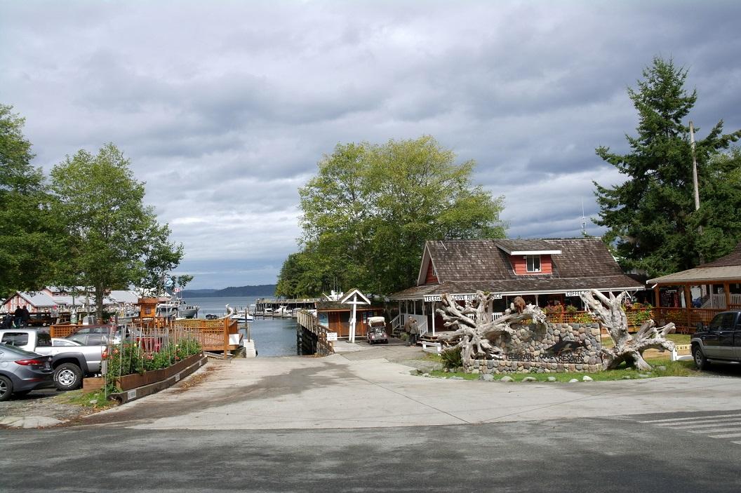 32 Telegraph Cove - uitzicht op Straat van Johnstone SAM_0102