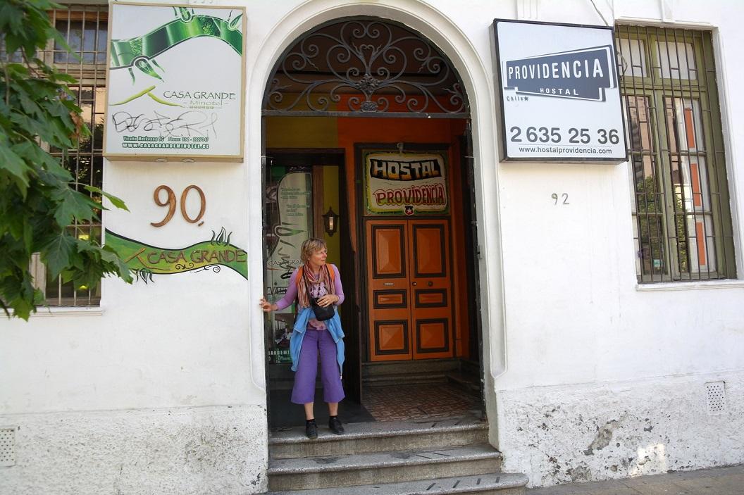 34 na nachtje in Hostal Providencia een nieuwe dag in Santiago