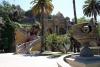 51 Barokke trappen en door bomen omzoomde paden leiden naar verschillende betoverend vormgegeven terrassen en fonteinen, ca. 1872 ingericht als recratiepark