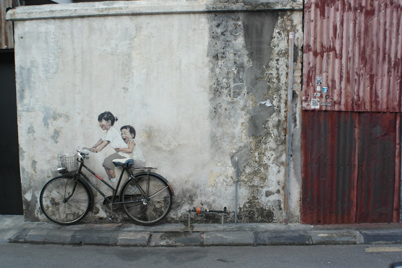w16-little-children-on-a-bicycle-wall-paining-armenian-street-georgetown