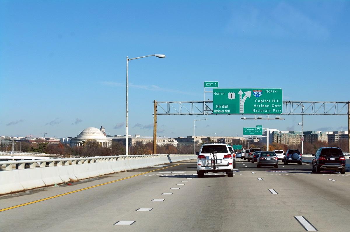 12 en de 395 op weg naar Washington DC