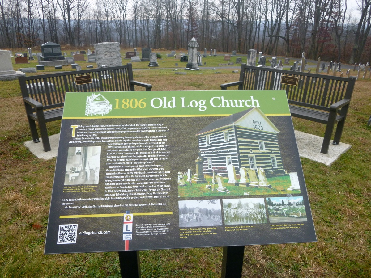 3 aan Lincoln Highway Driving Tour – 1860 Old Log Church
