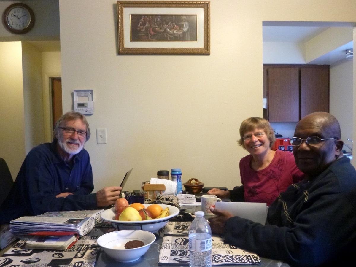1 bijzonder weerzien en hartelijke ontvangst bij Richmond en Elsa Draper, Liberiaanse vriend en collega sinds ruim 30 jaar