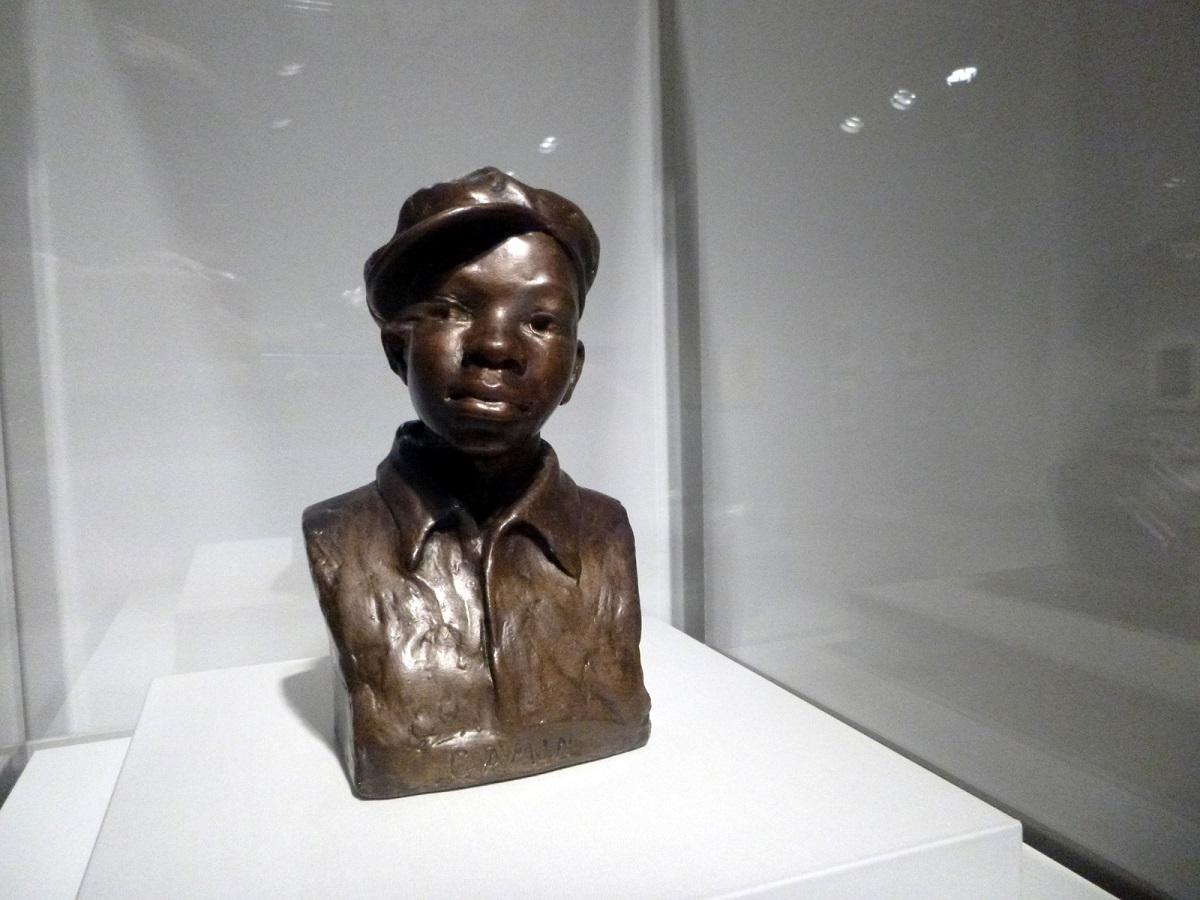 38Gamin - 1930 - historische borstbeeld van jongen ( Augusta Savage)