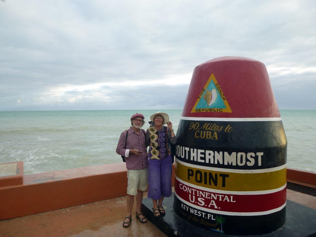 13met ons busje op Souternmost Point! Op 90 Mile afstand van Havanna – Cuba