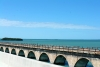 10 The Overseas Highway in The Florida Keys over de Atlantische Oceaan en de Golf van Mexico