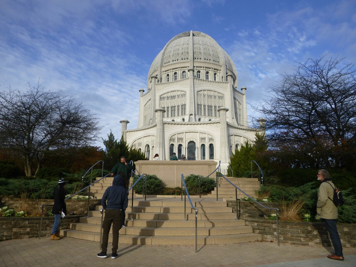 bezoek aan Baha'i House of Worship - Baha'i Temple in Wilmette - Chicago, architect Louis Bourgeois - juni 1931
