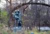 standbeeld van Hiawatha en Minnehaha in het Minnehaha Park