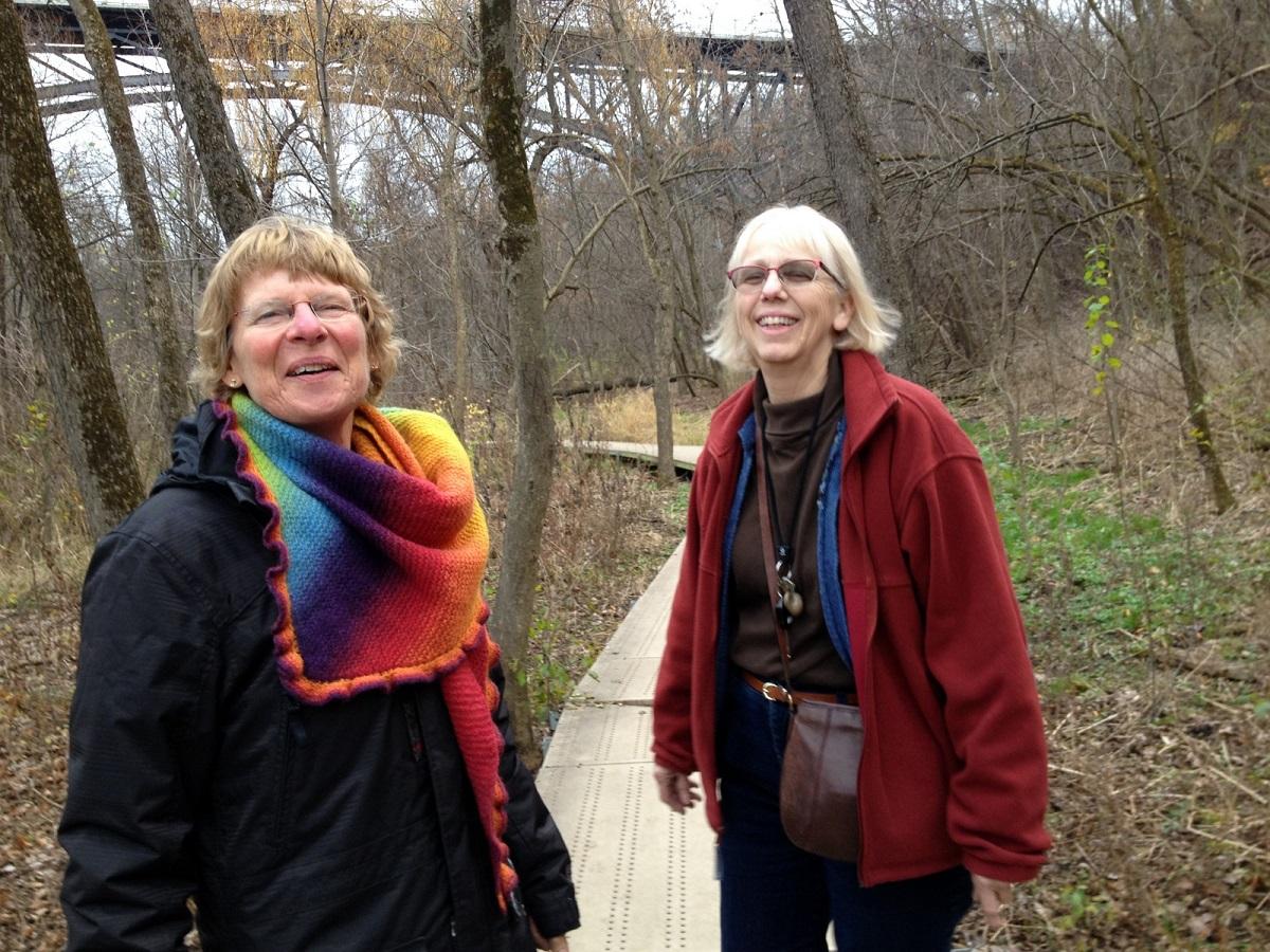 wandeling samen met Lisa door Minnehaha Park -Saint Paul