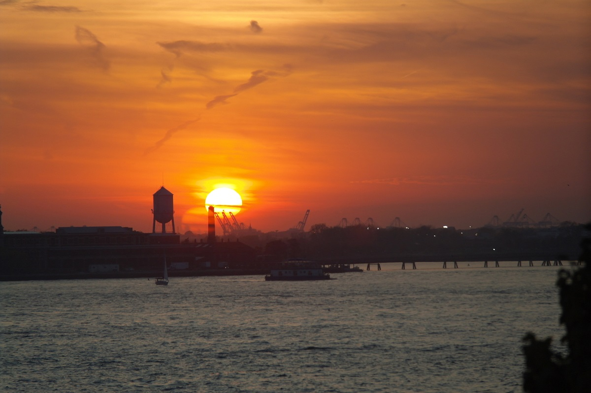 26 zonsondergang aan de Hudson River