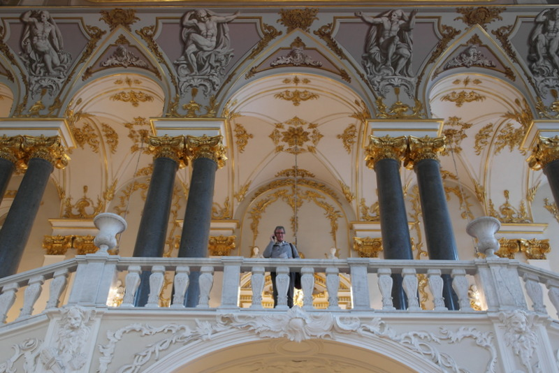 Hermitage Wim boven de eerste trappen