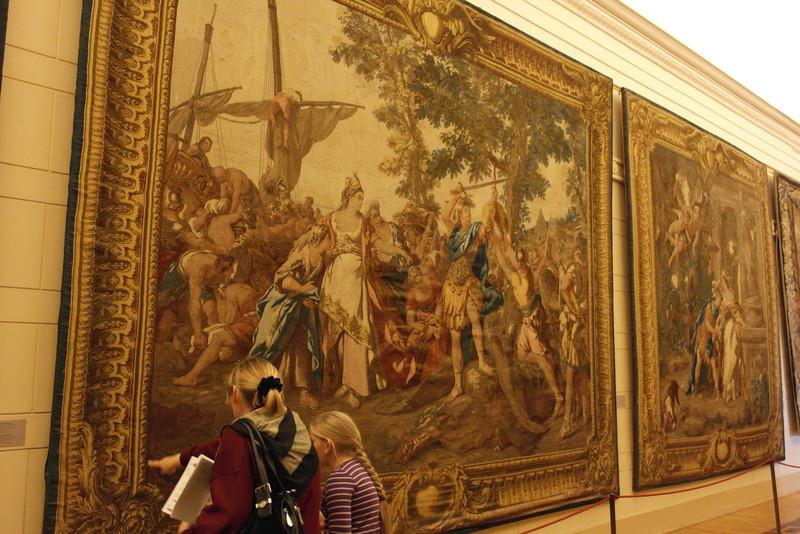Wandkleden in de Hermitage