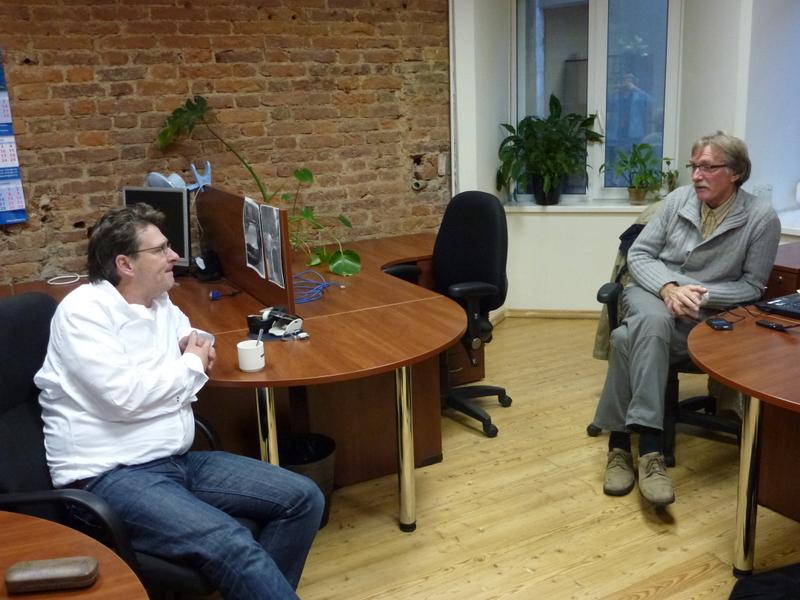 Egbert (SectorDirecteur Witteveen+Bos) en Wim kennen elkaar nog vanuit Indonesie 2006-2008