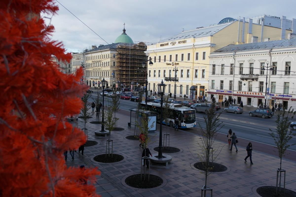 Nevsky prospect luxe winkelstraat