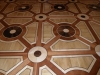 Hout ingelegde vloeren kunstwerken op zichzelf